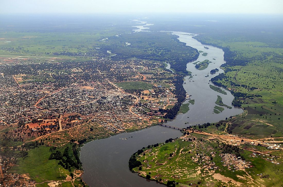 Juba, the capital of South Sudan, along the Nile River in East-Central Africa.