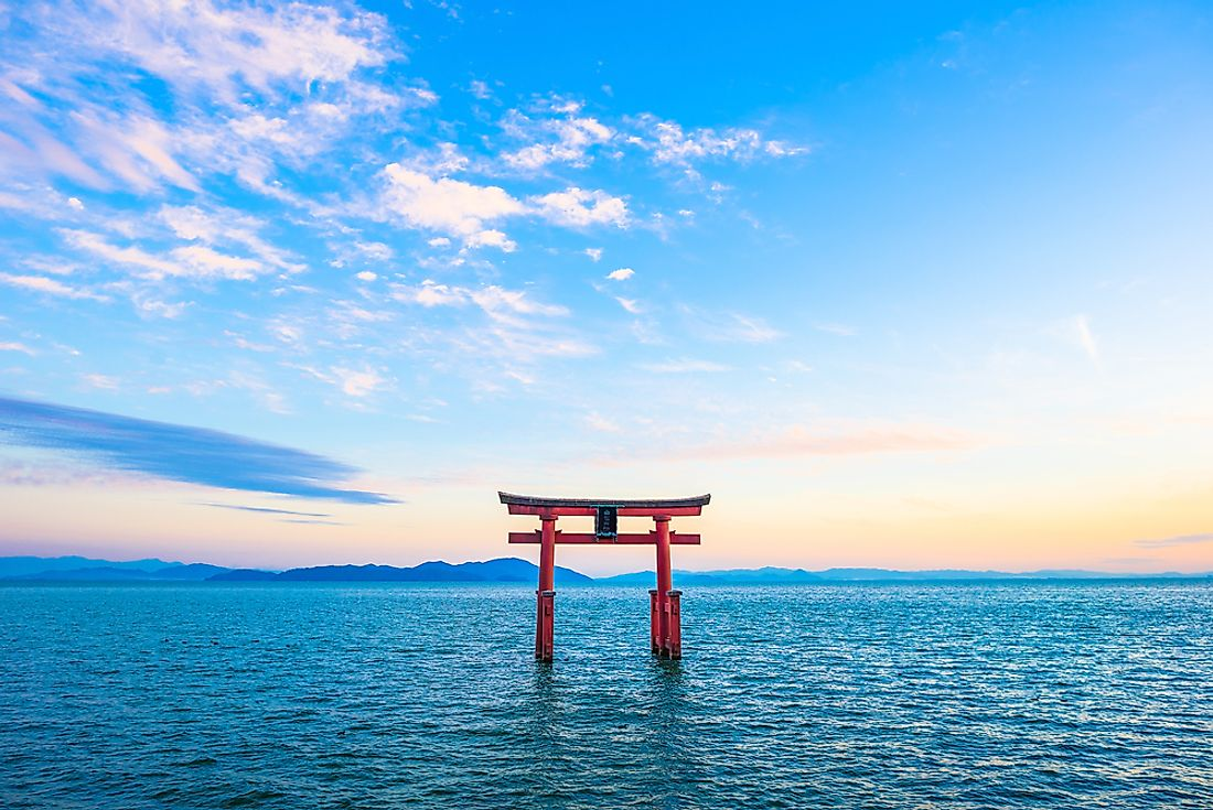 Biwa Lake is the largest in Japan.