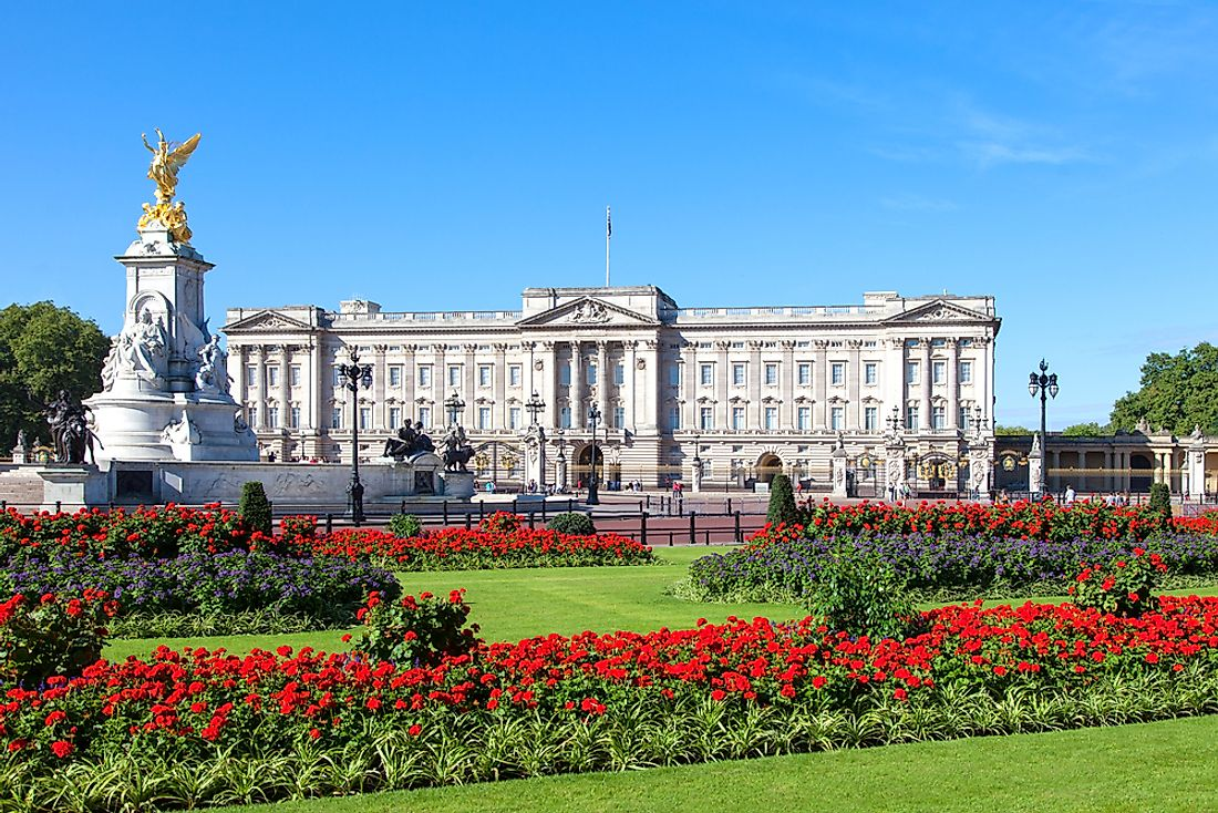Buckingham Palace has been the official London residence of the British Monarch since 1837.