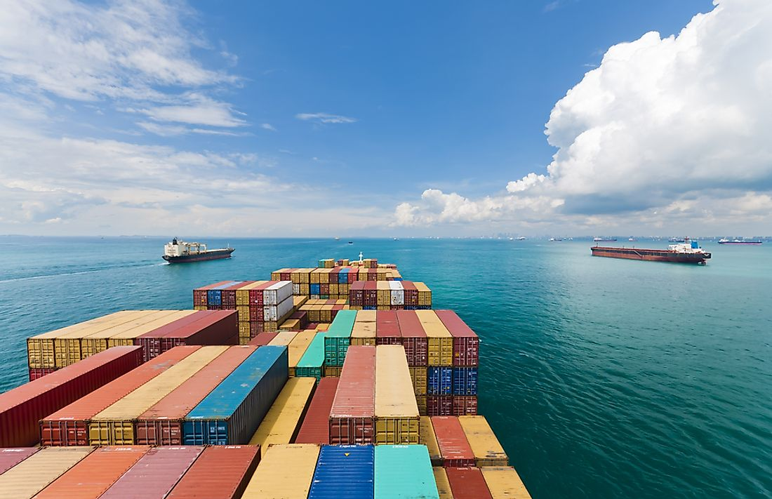 Singapore is home to one of the largest ports in the world, which helped kickstart its strong economy.