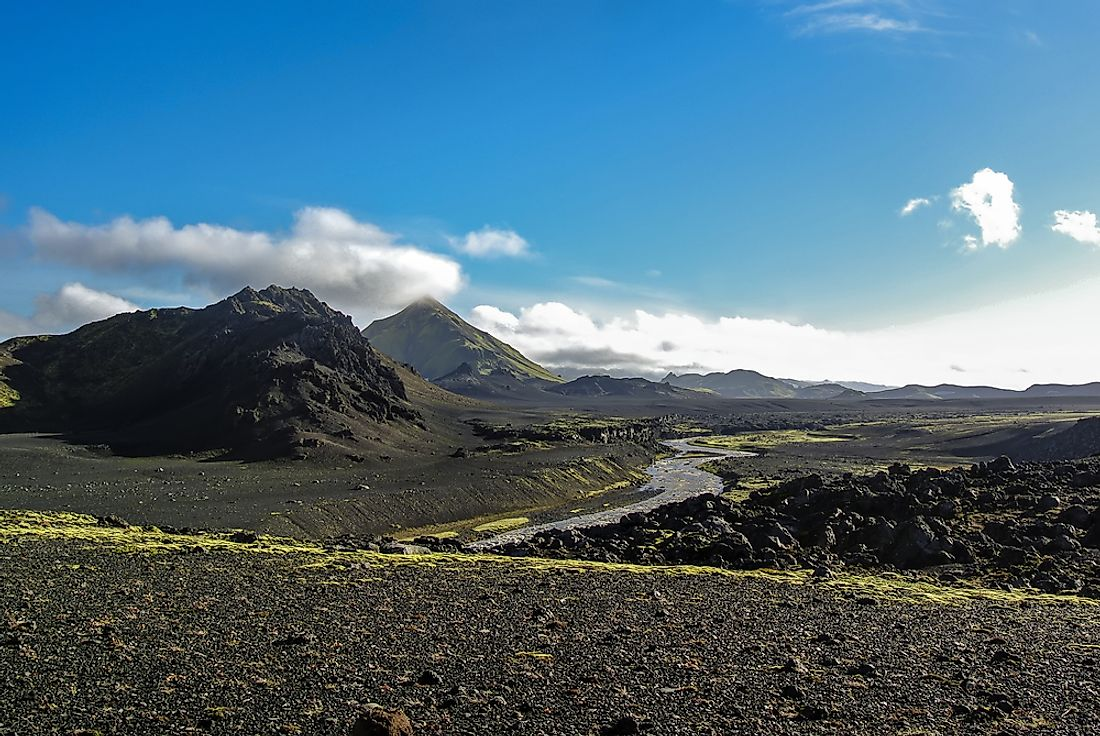 An outwash plain in Iceland.