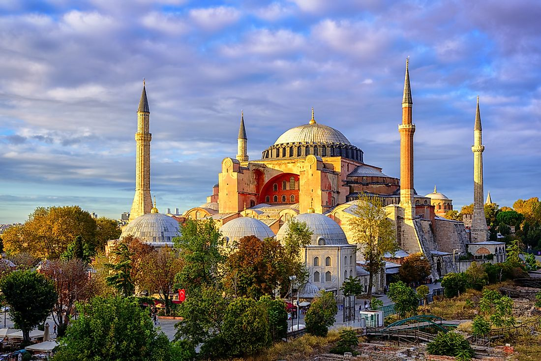 Istanbul's Hagia Sophia is one of the 7 Wonders of the Medieval World.