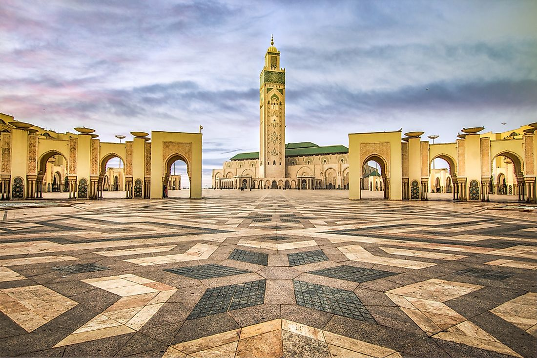 The Hassan II Mosque in Morocco.