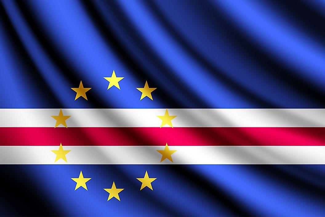 The flag of Cabo Verde.