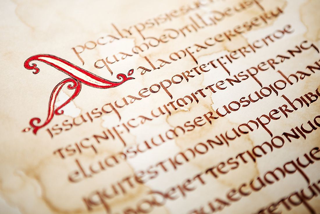 The Latin script is the most common type found in the world.
