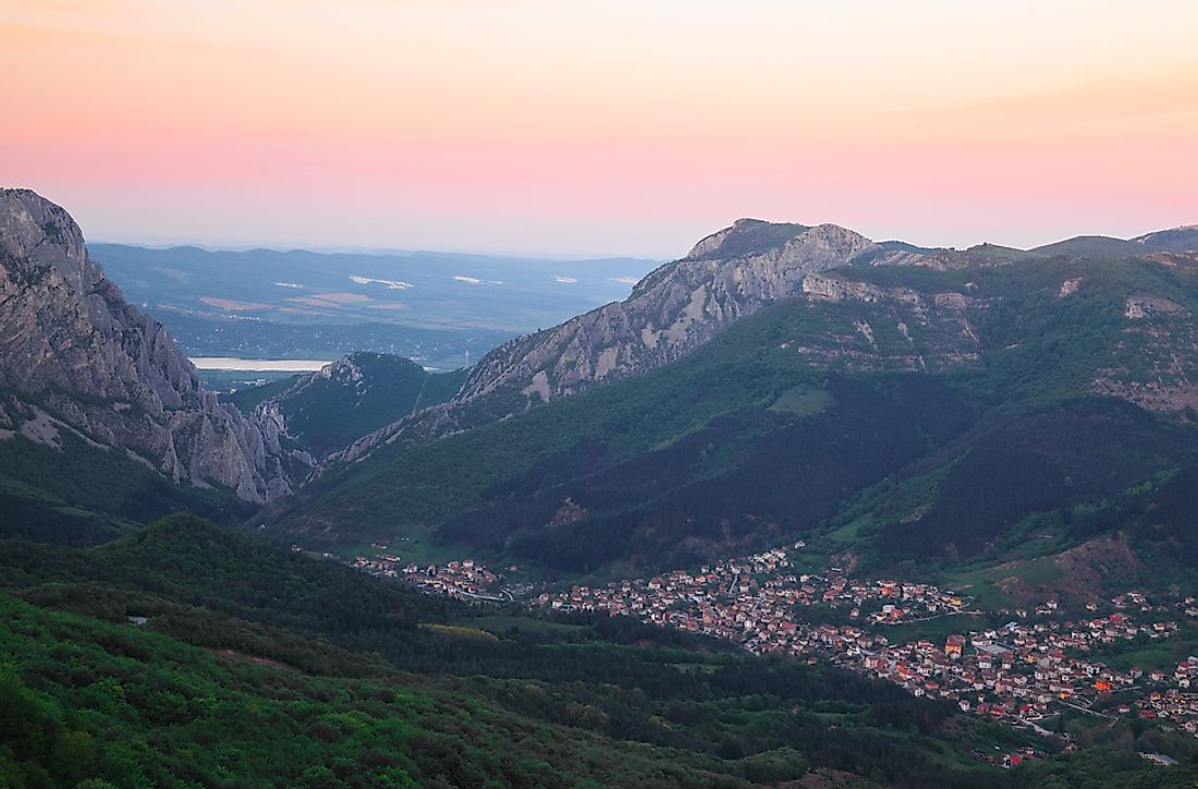 The Balkan Mountains are some of the youngest fold mountains on earth.