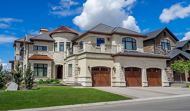 Large homes in Calgary, Alberta.