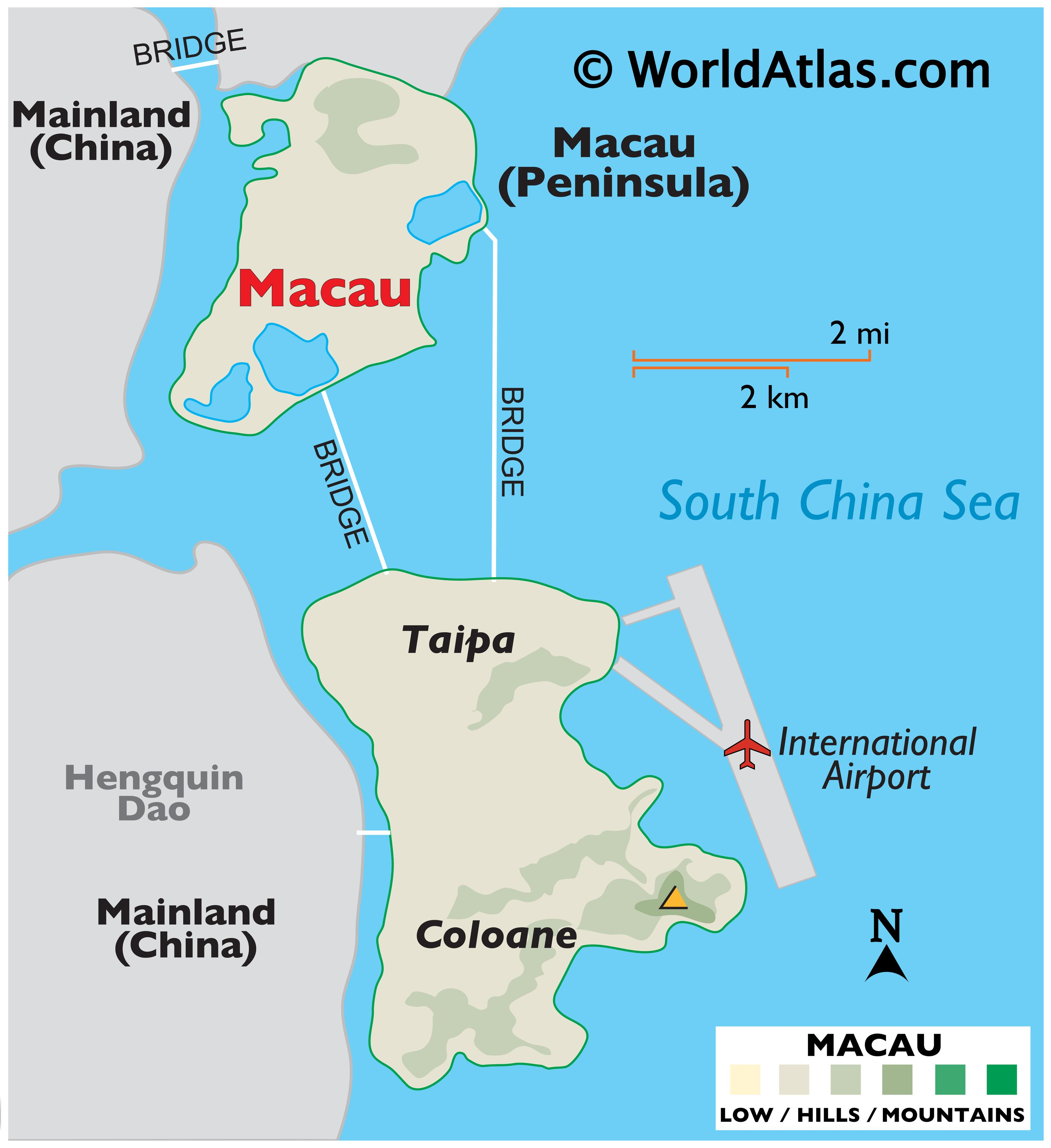 Macao Maps Facts World Atlas
