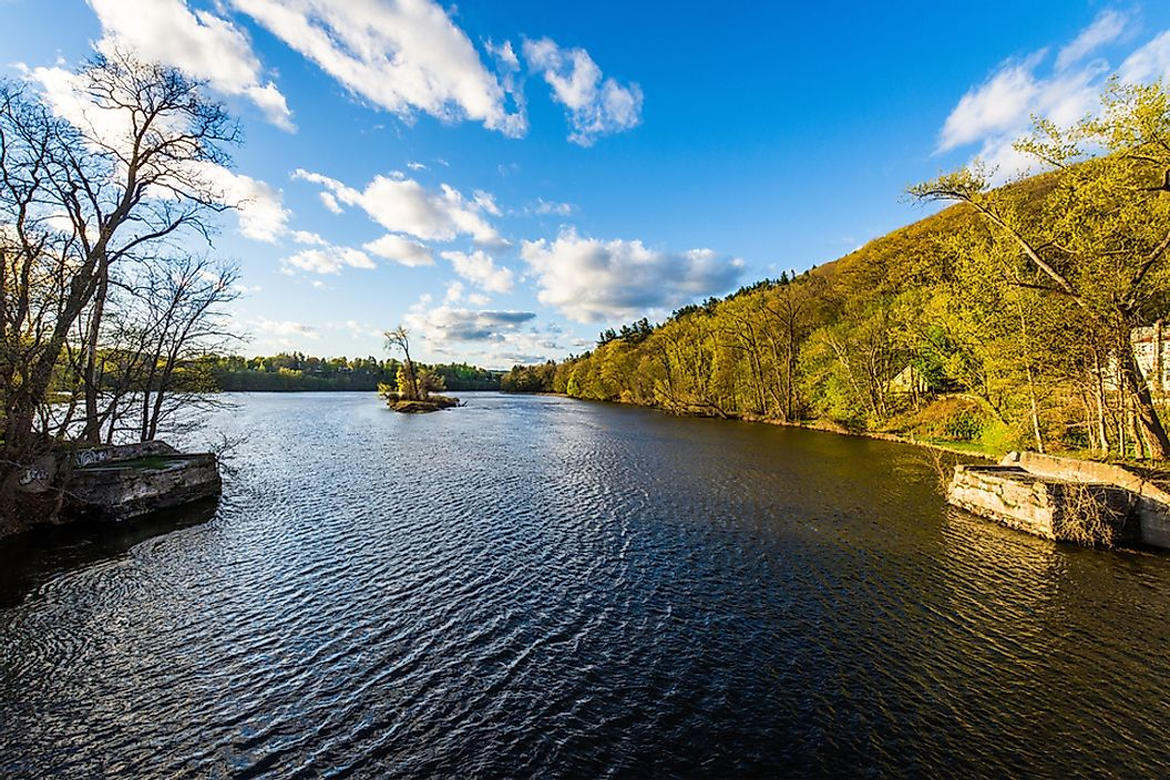 The Connecticut River in Brattleboro, Vermont.