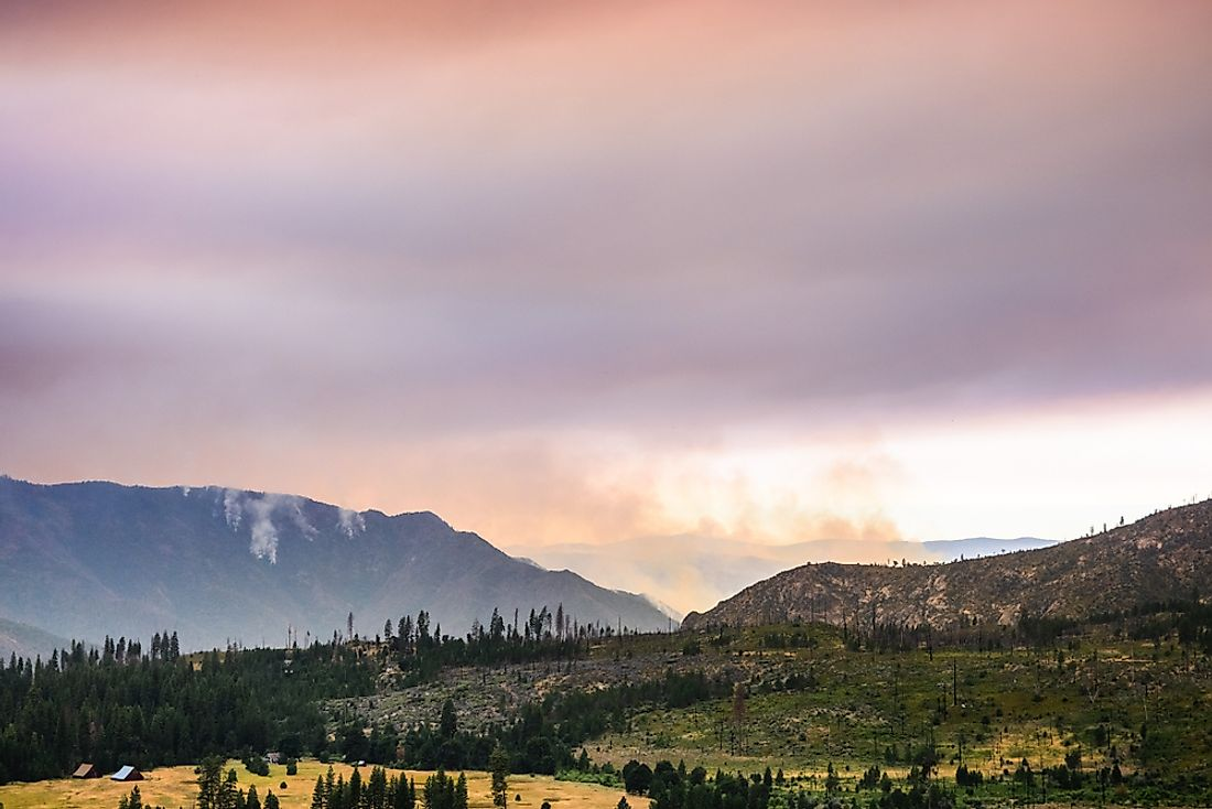 The Ferguson Fire is currently burning in Yosemite National Park. Photo credit: Shutterstock.
