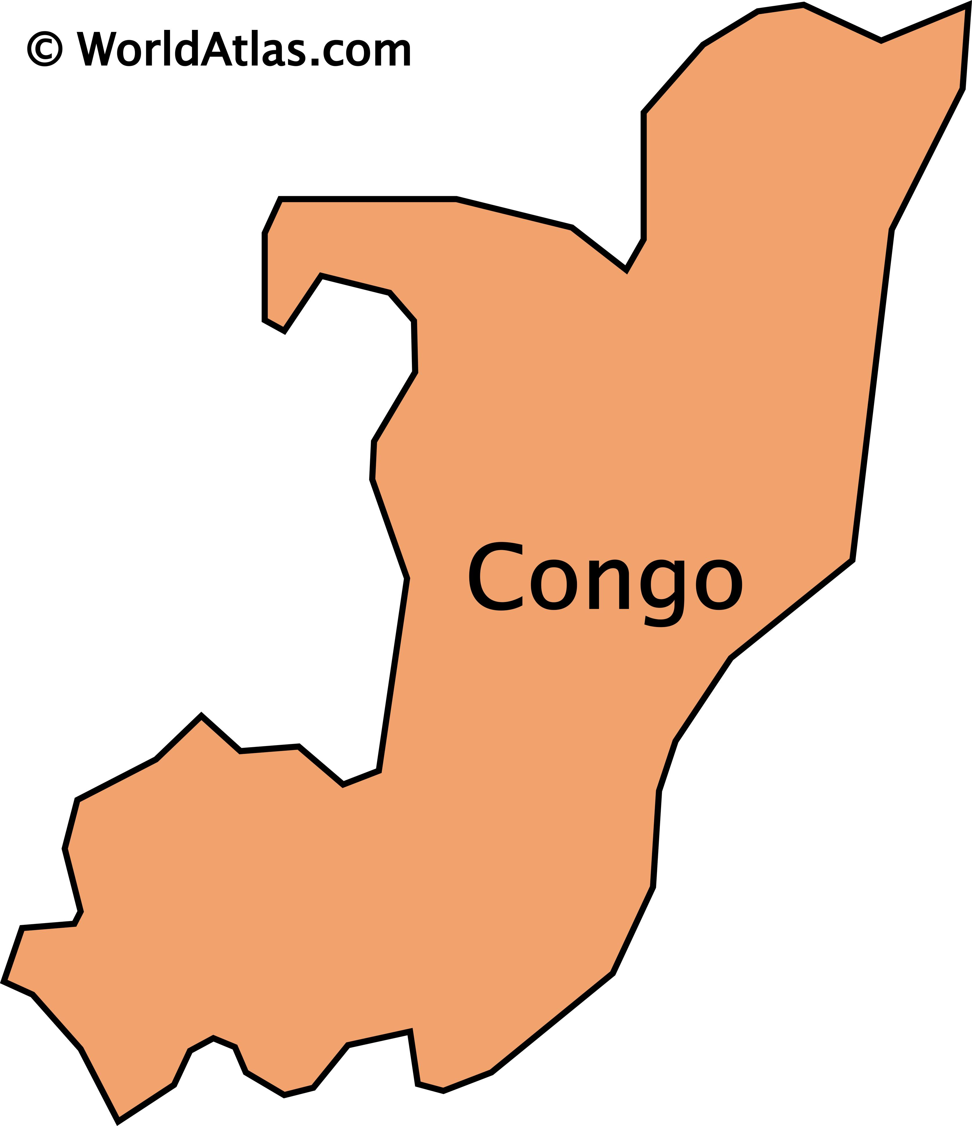 Outline map of Congo