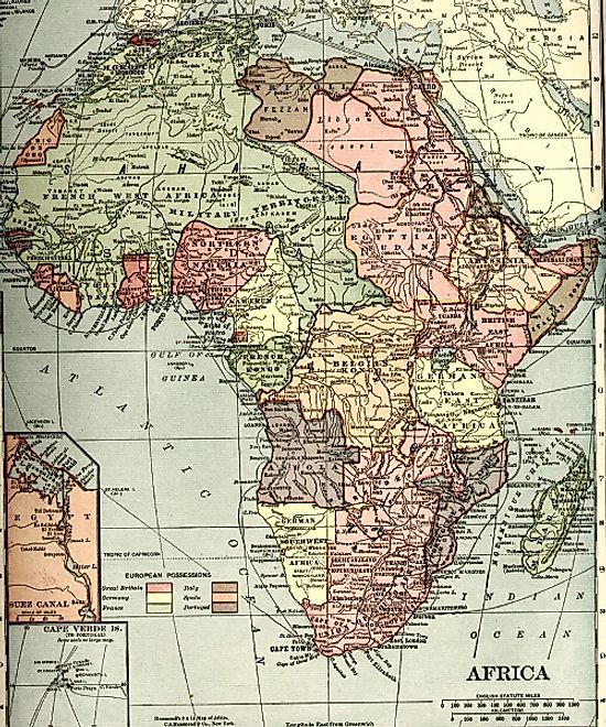 Africa map map of africa worldatlas 1910 map of the colonization of africa ccuart Images