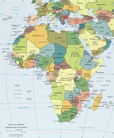 Landforms Of Africa Deserts Of Africa Mountain Ranges Of Africa - Africa desert map
