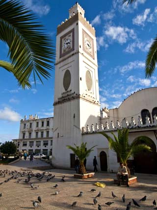 Djamaa El Djedid (Mosque of the Fisherman) on Place Port Said, Algiers, Algeria, North Africa