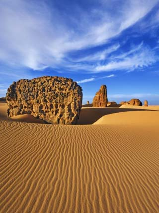 Eroded landscape in Tassili du Hoggar