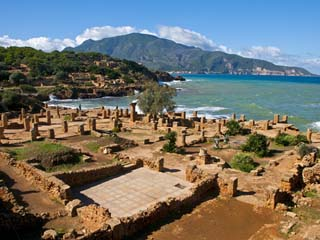 Roman Ruins of Tipasa, on the Algerian Coast, Algeria, North Africa, Africa