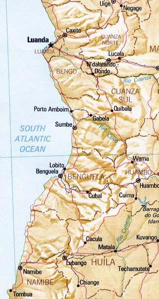 Angola map