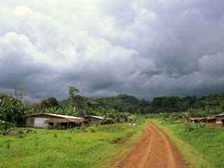 Typical Village in Western Cameroon, Africa