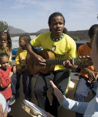Musical Event at Local School in the Volcanic Caldera, Fogo (Fire), Cape Verde Islands, Africa