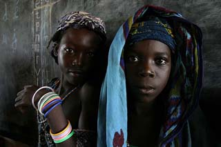 Central African school girls