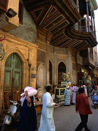 Street in Great Bazaar Khan Al-Khalil, Cairo, Egypt