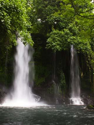 Double Waterfall on Bioko Island