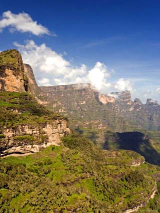Dramatic Mountain Scenery from the Area Around Geech, the Ethiopian Highlands, Ethiopia