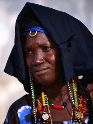 Portrait of Woman in Traditional Marriage Dress, Soma, Gambia