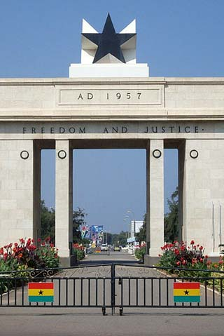 Accra independence arch