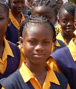 Liberian schoolgirls