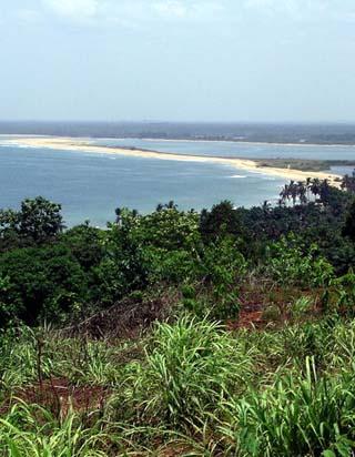 Coastline of Liberia