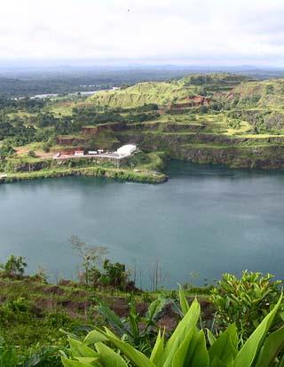 terraced lake