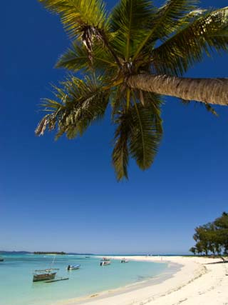 Beautiful Beach in Nosy Iranja, a Little Island Near Nosy Be, Madagascar, Indian Ocean, Africa
