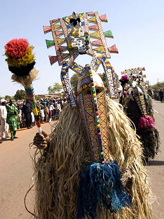Bobo Masks During Festivities, Sikasso, Mali, Africa