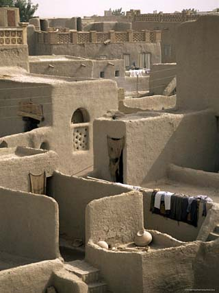 Mud-Walled Houses, Mopti, Mali, Africa