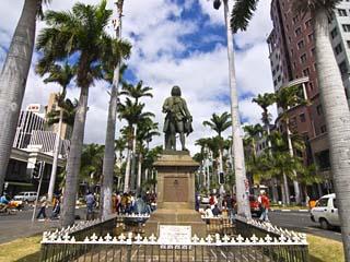 Mahe De La Bourdonnais Statue, Port Louis, Mauritius, Indian Ocean, Africa