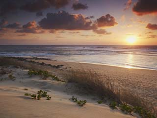 Sunrise on Tofo Beach, Tofo, Inhambane, Mozambique