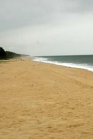 Atlantic coastline Nigeria