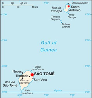 Sao Tome latitude and longitude map