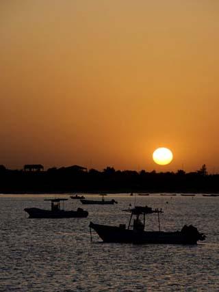 Sunrise at Saly, Senegal, West Africa, Africa