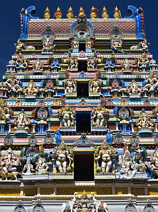 Hindu Temple, Victoria, Mahe Island, Seychelles