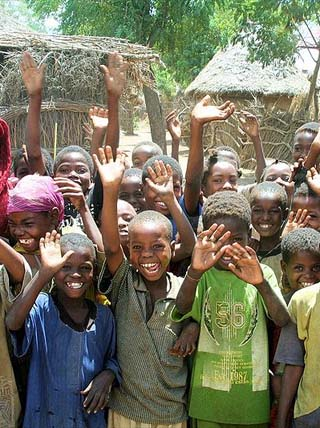Happy Somalian children