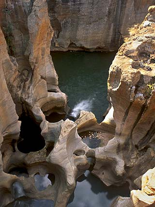 Bourke's Luck Potholes, Created By River Erosion, Blyde River Canyon, Mpumalanga, South Africa