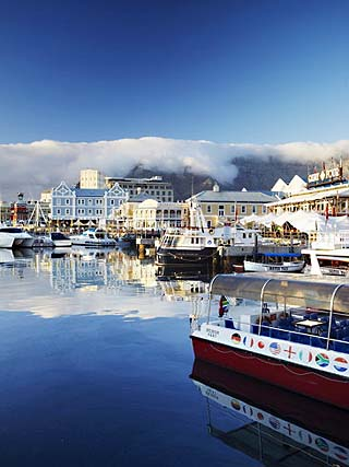 Victoria and Alfred Waterfront at Dawn, Cape Town, Western Cape, South Africa, Africa