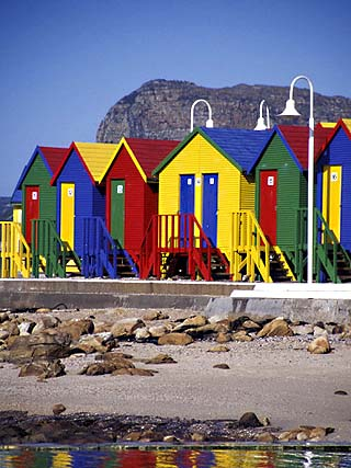 Changing Huts on St. John's Beach, Capetown, South Africa