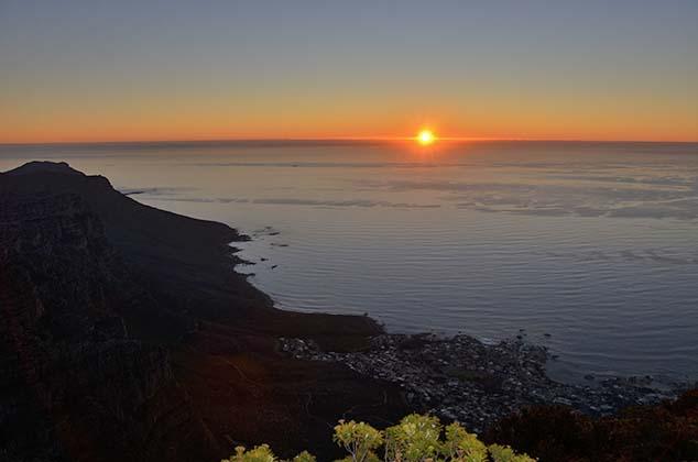 sunset tabel top mountain