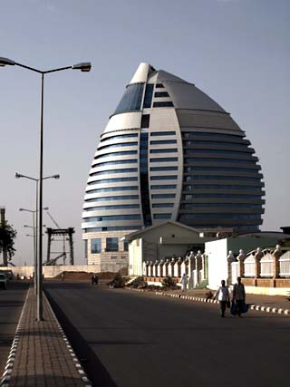 5-Star Boji Al-Fateh Hotel, Designed to Represent a Sail, Khartoum, Sudan