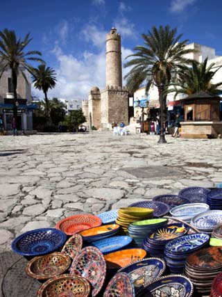 Medina Market by the Great Mosque, Sousse, Tunisia