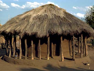 Typical House in Village, Zambia, Africa