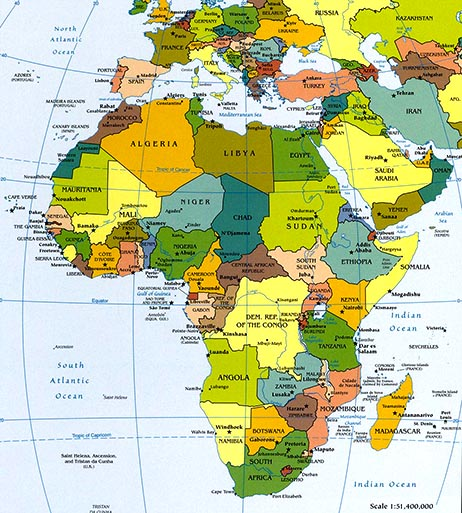 africa map atlas